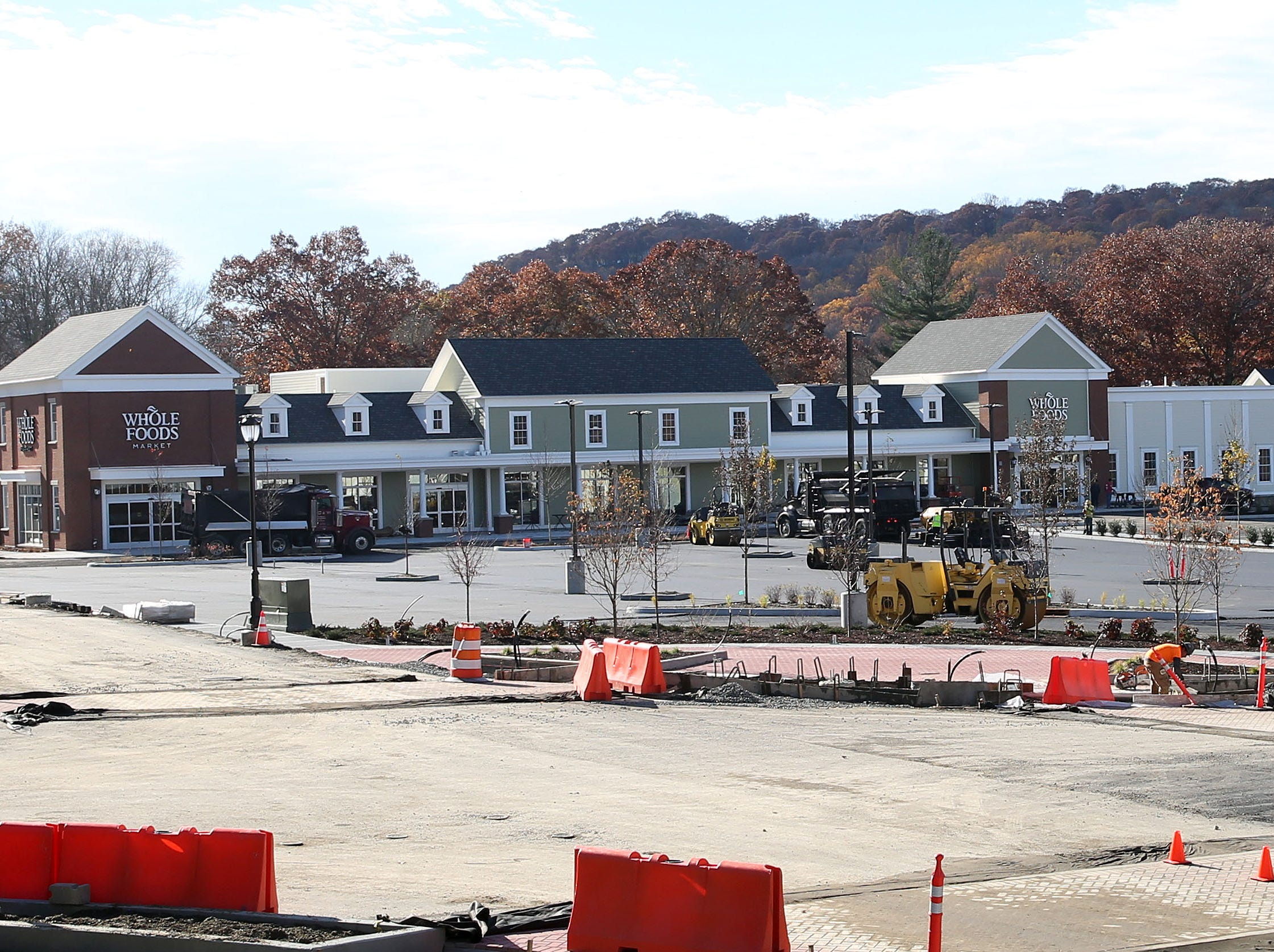 Workers put the finishing touches on Chappaqua Crossing in Chappaqua Nov. 7,  2018.