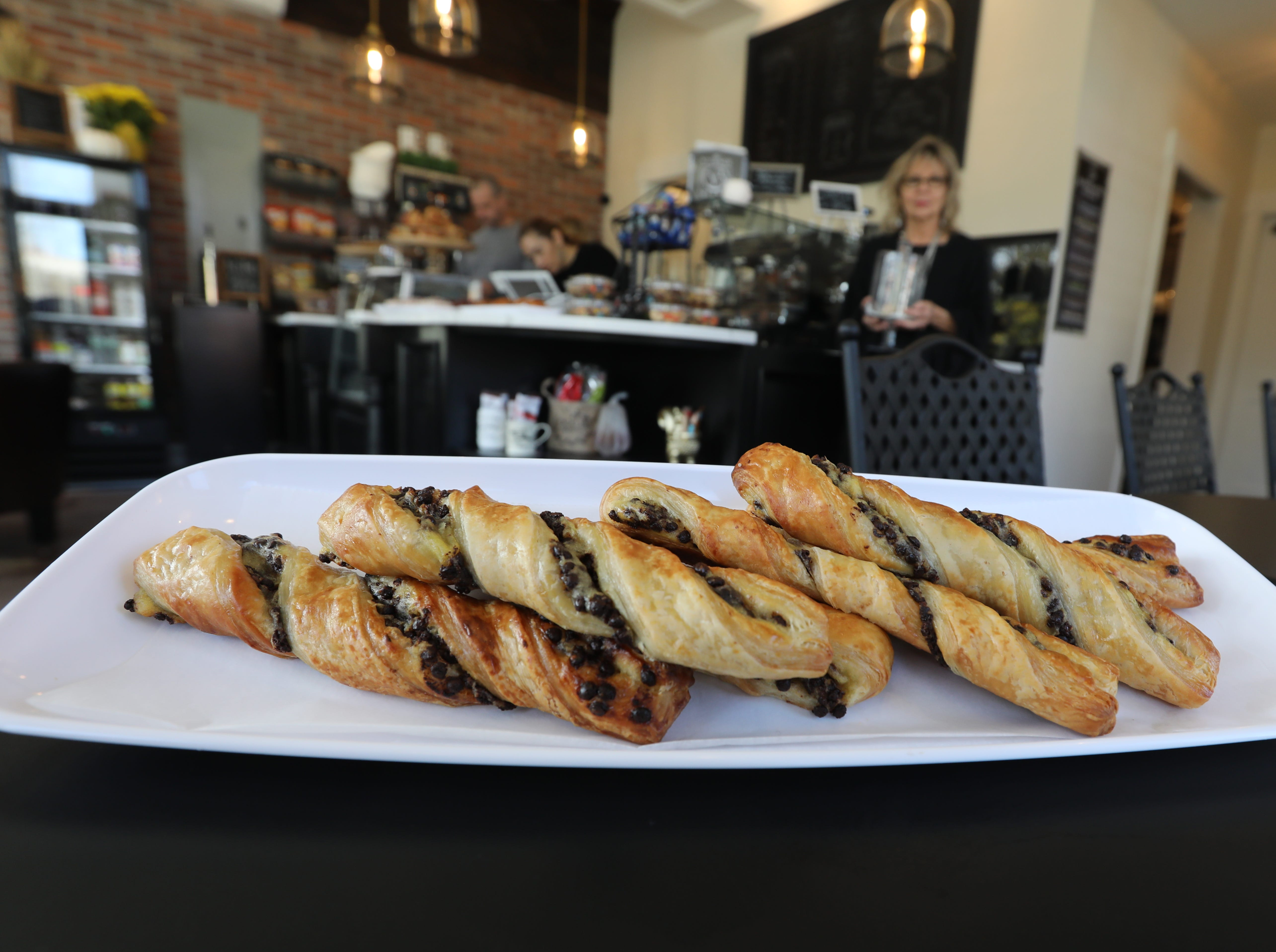 Village Twists, croissant with cream cheese and chocolate chips at the Village Blend Cafe in Sloatsburg Nov. 8, 2018.