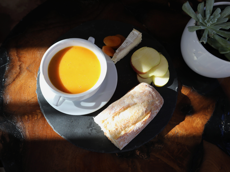 Autumn butternut squash soup, vegan and gluten-free at the Village Blend Cafe in Sloatsburg Nov. 8, 2018.