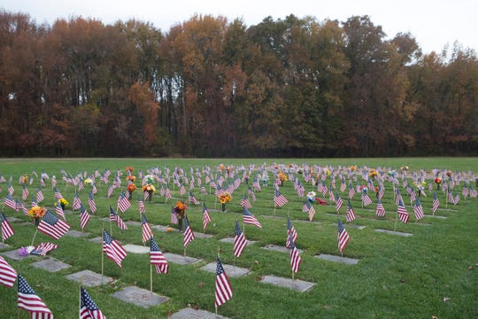 Scenes from the Delaware Veterans Memorial Cemetery.