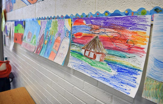 A recent art project at Fain Elementary had students create artwork related to Native American culture.