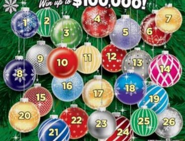 Farmer wins $100,000 playing Holiday Countdown scratch off prize