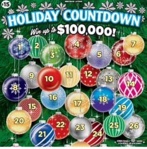 A Wisconsin farmer won one of three coveted top prizes of $100,000 playing the Holiday Countdown scratch game.