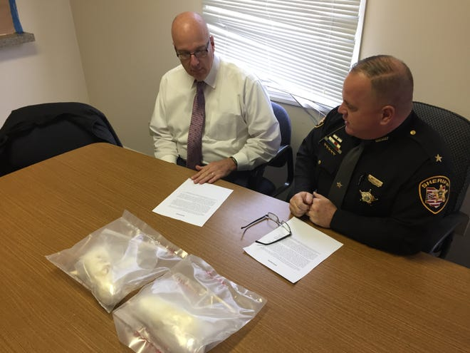 Zanesville Police Chief Tony Coury and Muskingum County Sheriff Matt Lutz held a press conference on Thursday to discuss a recent drug bust.