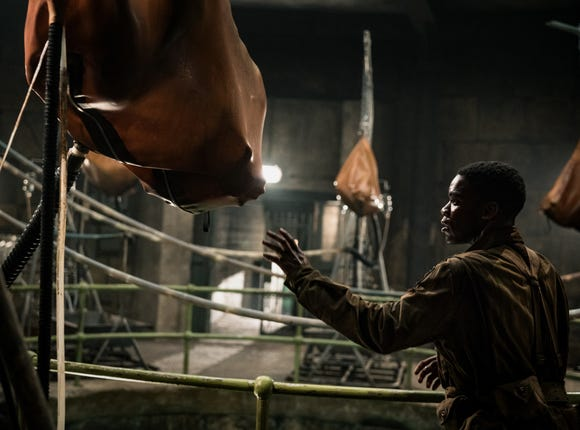 "Boyce (Jovan Adepo) investigates horrifying Nazi experiments in the World War II horror action film ""Overlord."""
