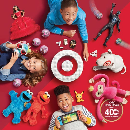 The cover for Target's toys catalog.