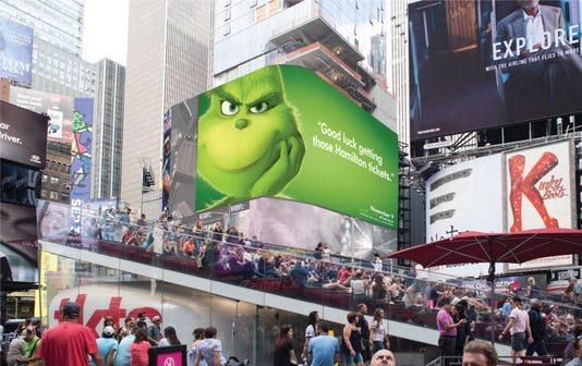 Image result for universal studios The Grinch Campaign