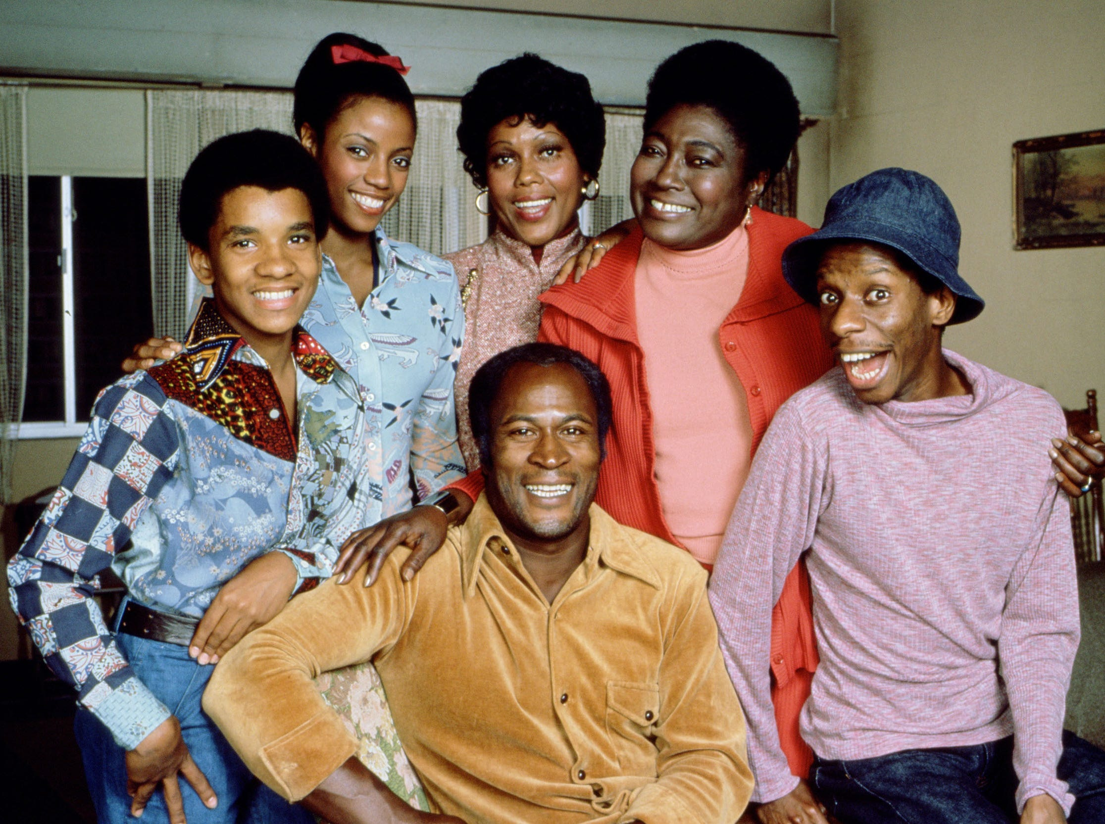 Ralph Carter, Bernnadette Stanis, Ja'net Dubois, Esther Rolle, Jimmie Walker and John Amos from the tv show Good Times. --- DATE TAKEN: rec'd 03/06  No Byline   Sony        HO      - handout   ORG XMIT: ZX45777