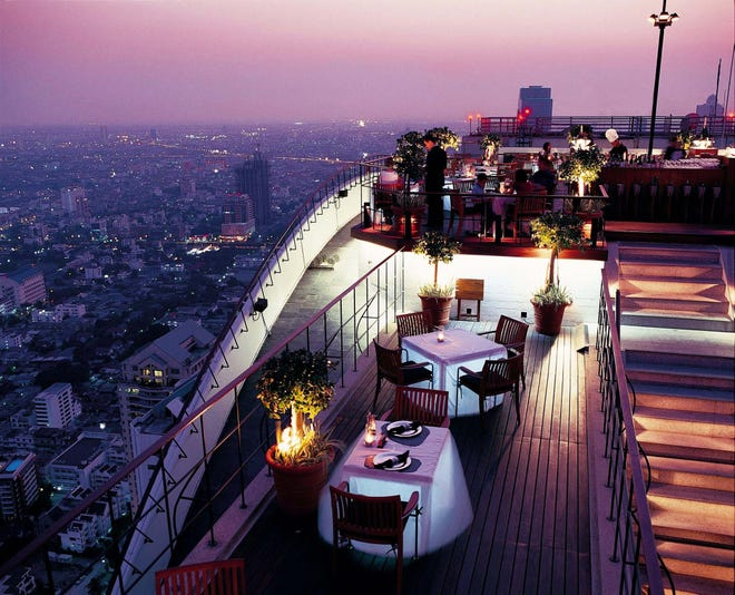 The Banyan Tree Bangkok's Moon Bar set the bar for rooftop experiences in the city.