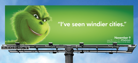 """Chicago folks shouldn't be proud of the term """"The Windy City."""" The Grinch says the city cannot even win that contest."""