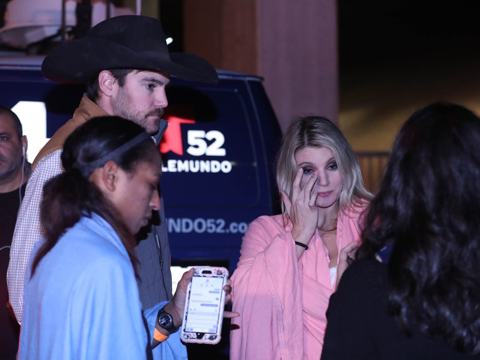 People at the scene of a mass shooting at the Borderline Bar and Grill in Thousand Oaks, Calif., Nov. 8, 2018.