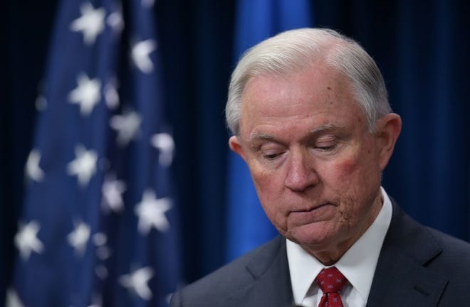 Former Attorney General Jeff Sessions in Washington, D.C., on March 6, 2017.