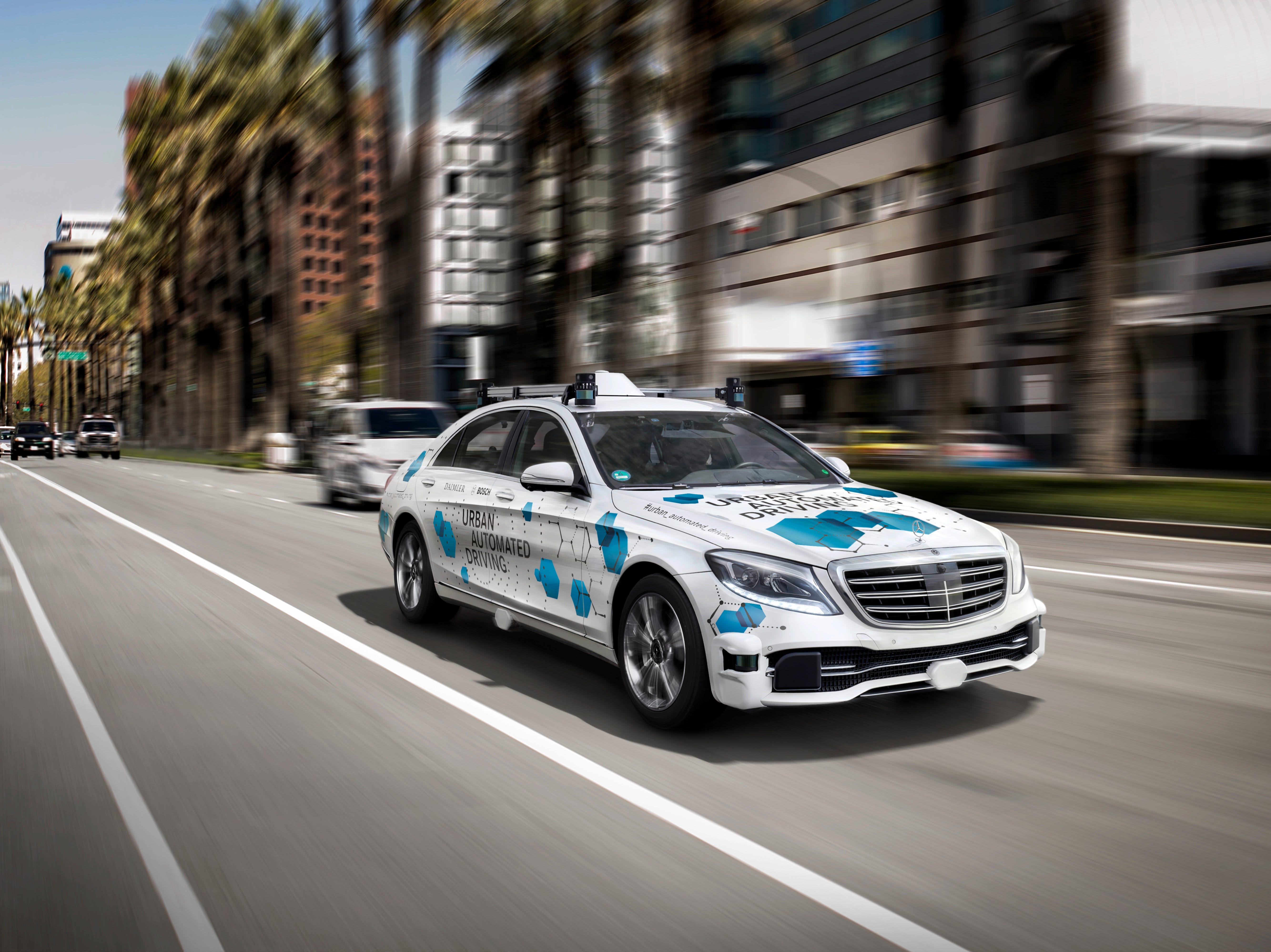 Mercedes-Benz, Bosch to offer self-driving car rides in San Jose, California