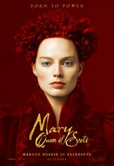 "Margot Robbie stars as Elizabeth I in ""Mary Queen of Scots."""