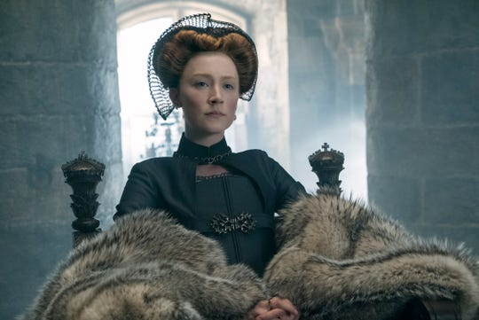 "Saoirse Ronan plays Mary Stuart, Queen Elizabeth's cousin, in ""Mary Queen of Scots."""