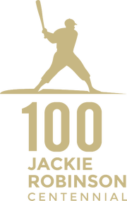 The Jackie Robinson Centennial Tour logo, which will be used to honor Robinson throughout 2019.