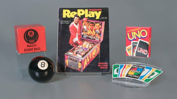 Magic 8 Ball, pinball and Uno were inducted into the Toy Hall of Fame on Nov. 8, 2018.