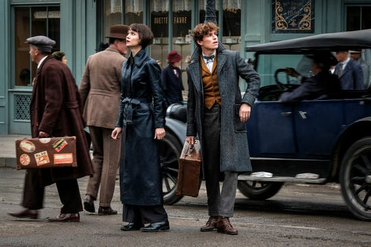 "Tina Goldstein (Katherine Waterston) and Newt Scamander (Eddie Redmayne) team up again in the ""Fantastic Beasts"" sequel."