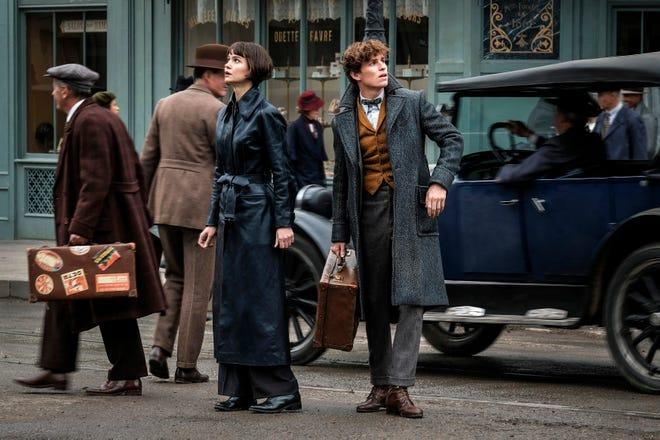 "Tina Goldstein (Katherine Waterston) and Newt Scamander (Eddie Redmayne) team up again in the ""Fantastic Beasts"" sequel."