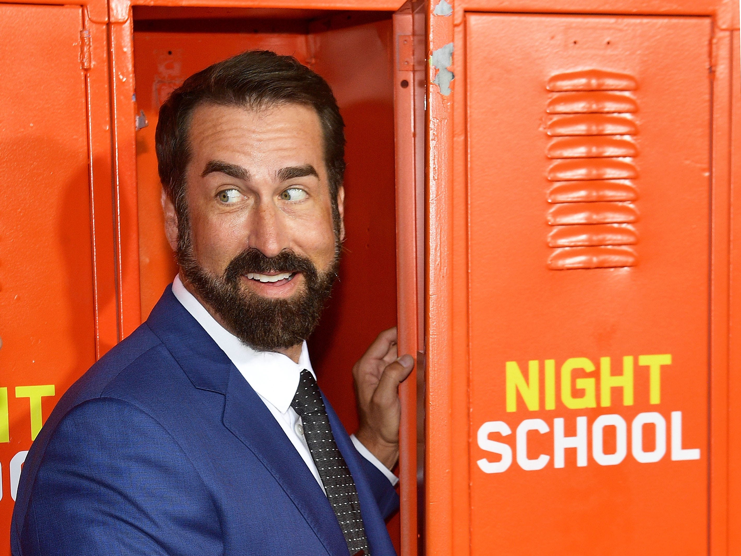 "LOS ANGELES, CA - SEPTEMBER 24:   Rob Riggle attends the premiere of Universal Pictures' ""Night School"" on September 24, 2018 in Los Angeles, California.  (Photo by Matt Winkelmeyer/Getty Images) ORG XMIT: 775229472 ORIG FILE ID: 1039728754"