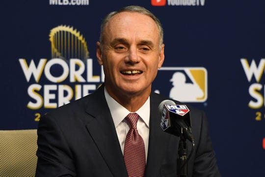 Rob Manfred has been the commissioner of MLB since Jan. 25, 2015.