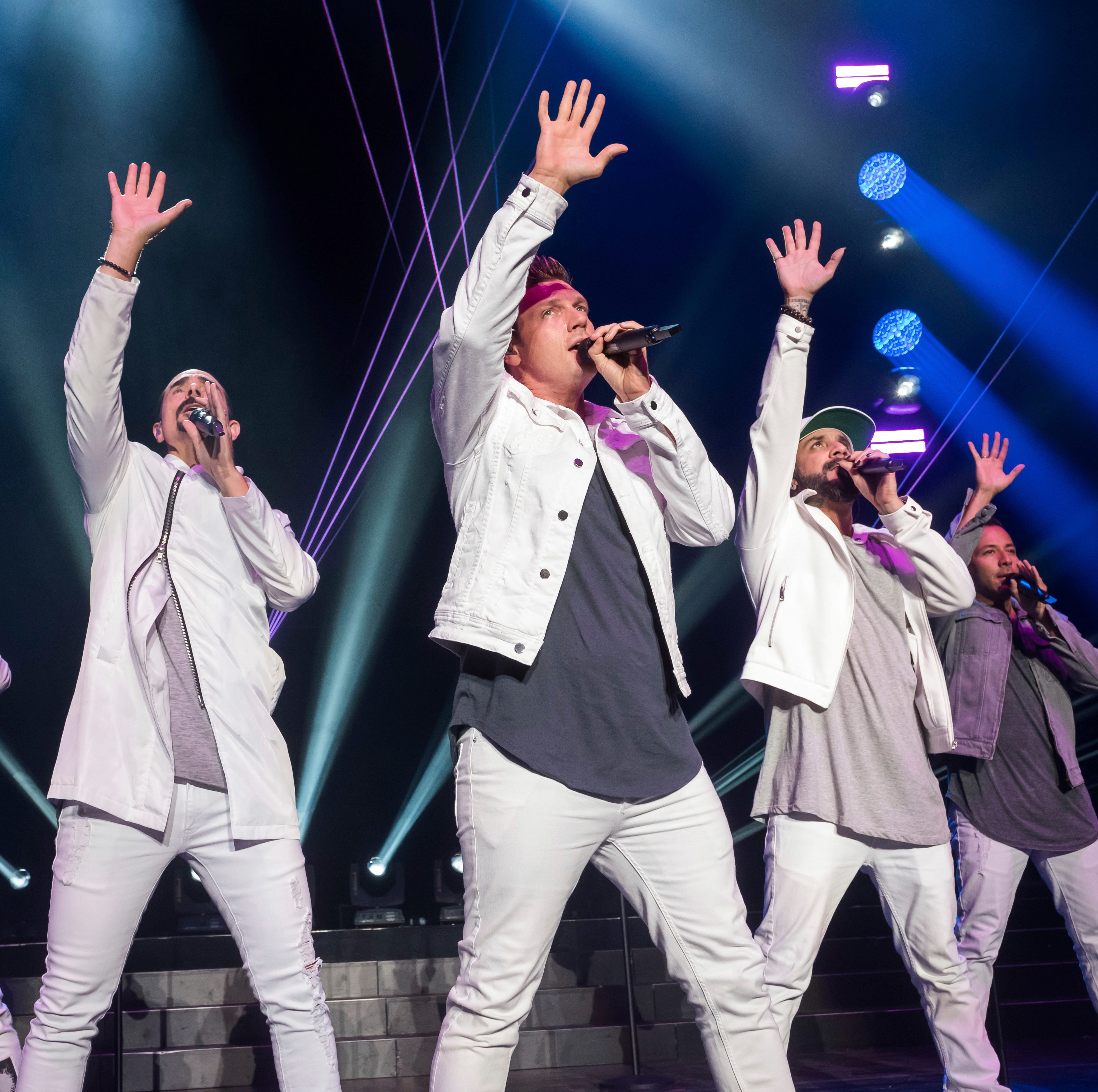 Backstreet Boys members, from left, Brian Littrell, Kevin Richardson, Nick Carter, AJ McLean and Howie Dorough perform at KTUphoria 2018 at Jones Beach Theater on Saturday, June 16, 2018, in Wantagh, N.Y. (Photo by Charles Sykes/Invision/AP) ORG XMIT: NYCS215