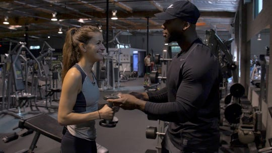 """Trainer Cory Calliet's assessment of Carly Mallenbaum's physique: """"You look like you're not strong. ... You have a good shape, but you have room to add to it."""""""