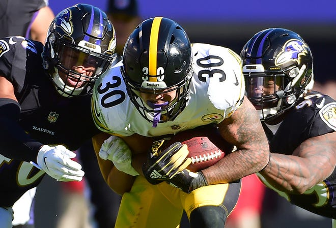 With 1,085 total yards and 10 touchdowns, the Steelers' James Conner ranks third among running backs in fantasy points this season.