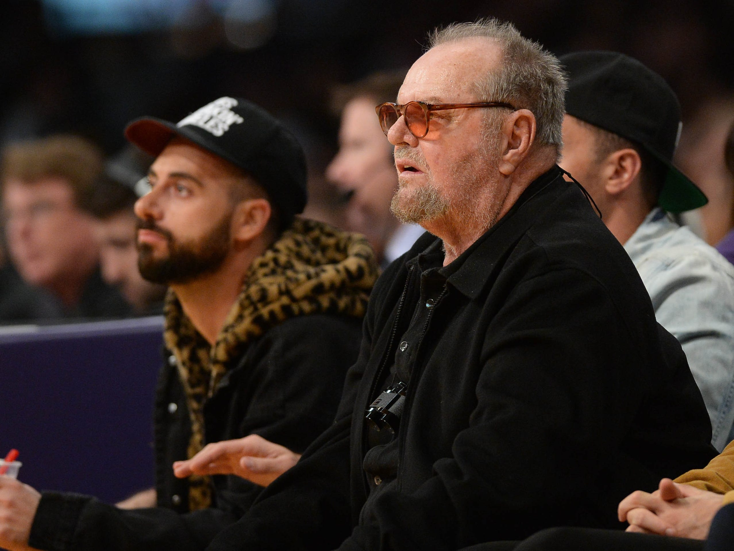 Nov. 7: Actor and Lakers superfan Jack Nicholson takes in a game against the Timberwolves from his familiar  courtside seat at Staples Center.