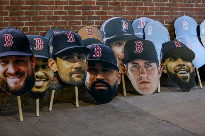 Signs of Red Sox players after winning the World Series.