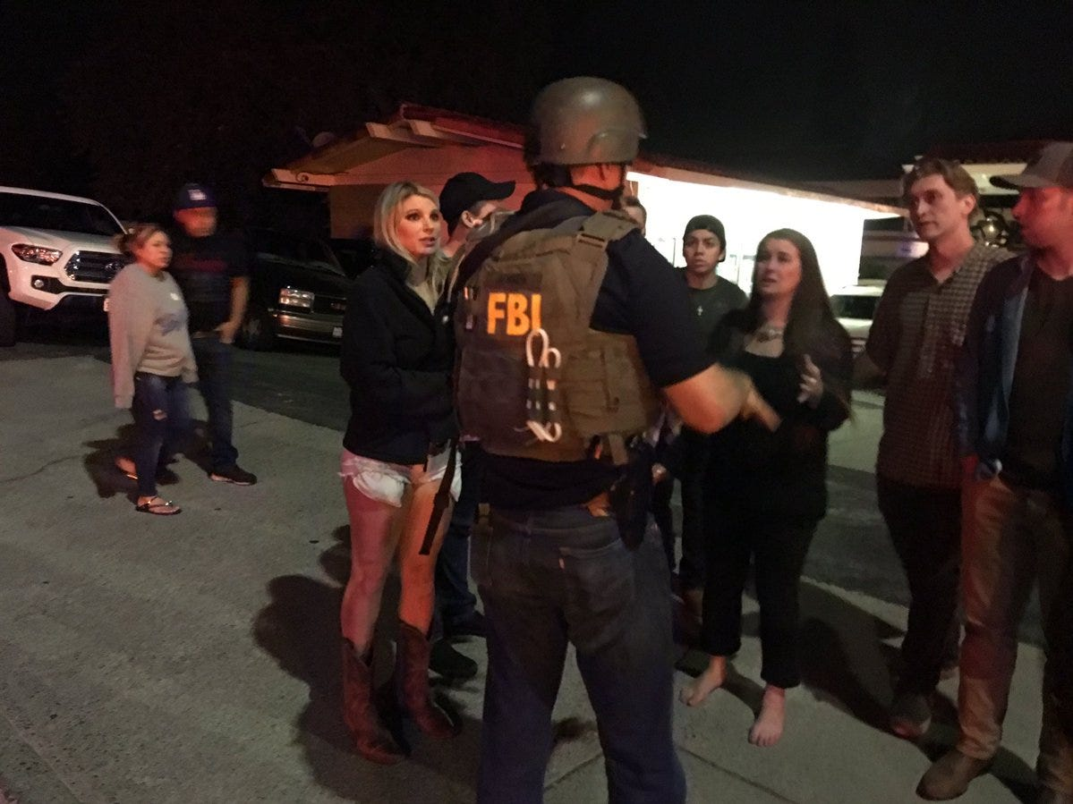 The FBI was at the scene early Thursday after a gunman opened fire at the Borderline Bar & Grill in Thousand Oaks, Calif., Nov. 8, 2018.