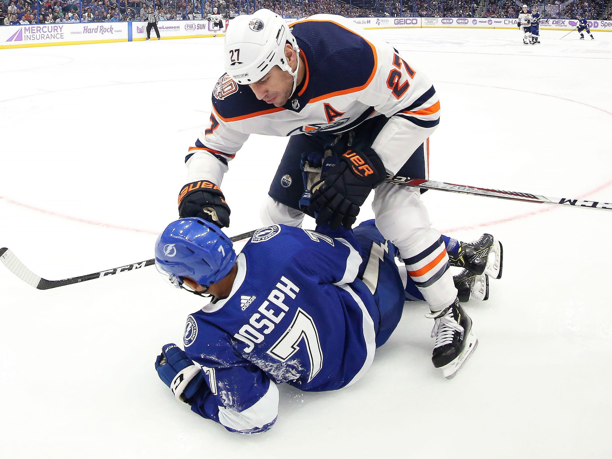 Nov. 6: Oilers' Milan Lucic vs. Lightning's Mathieu Joseph
