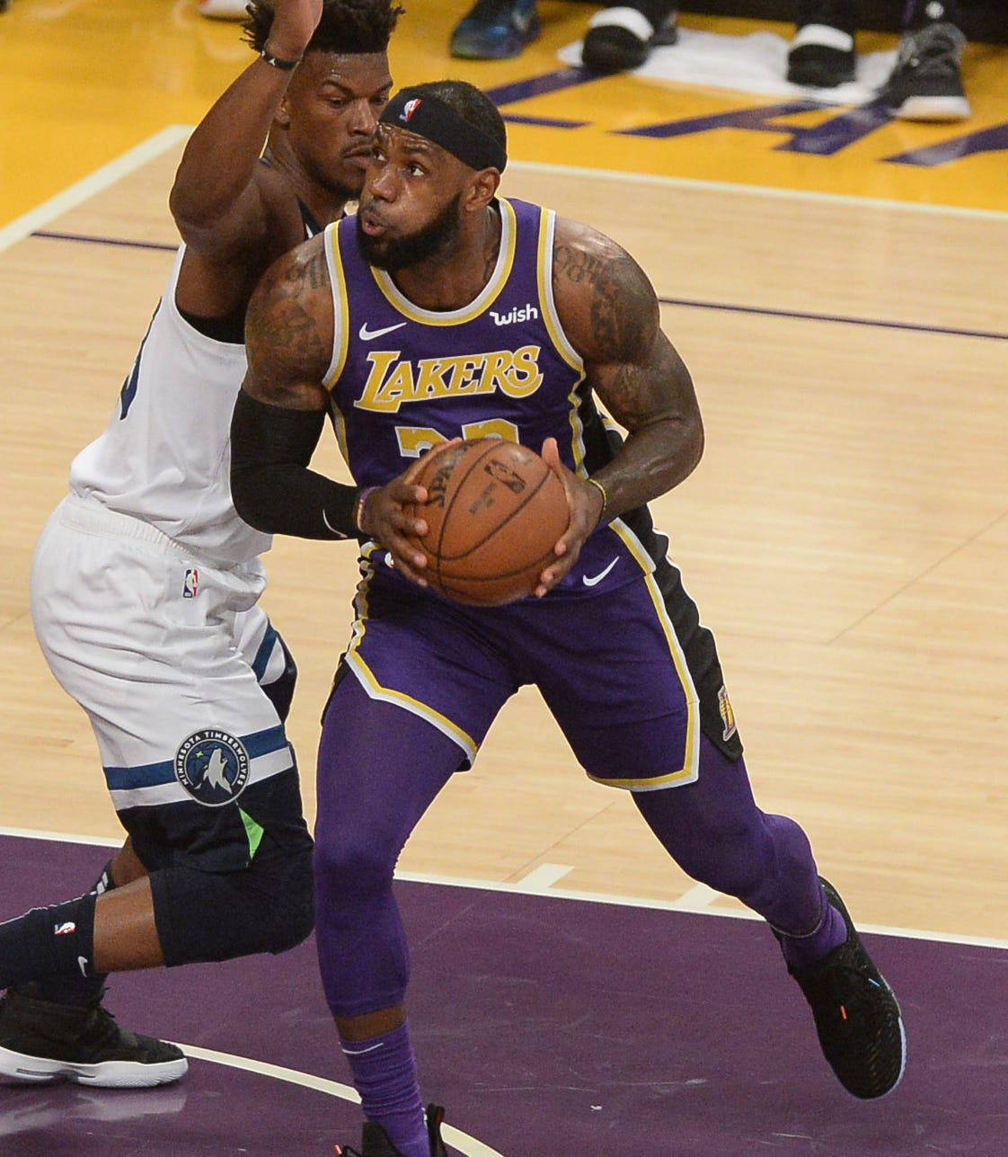 Usp Nba Minnesota Timberwolves At Los Angeles Lak S Bkn Lal Min Usa Ca