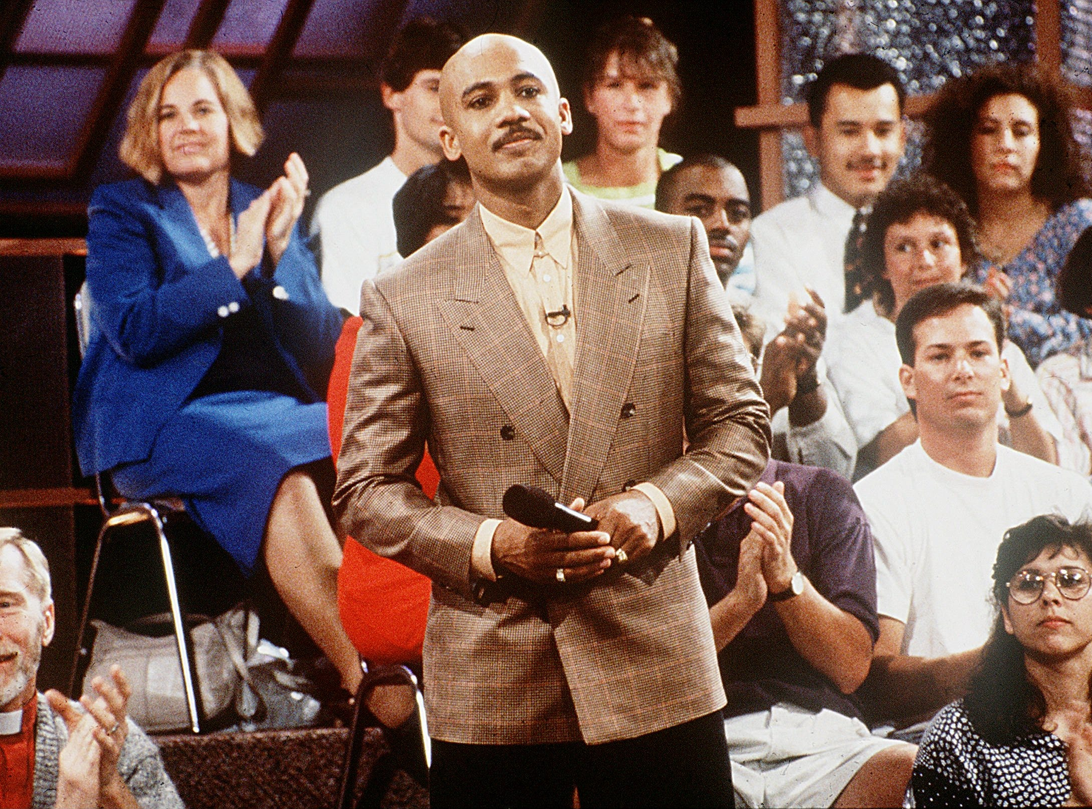 Undated-Talk show host Montel Williams on the set of his show.