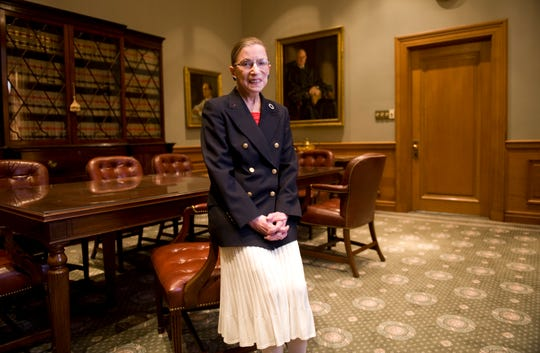 Portrait of Supreme Court Justice Ruth Bader Ginsburg in 2009.