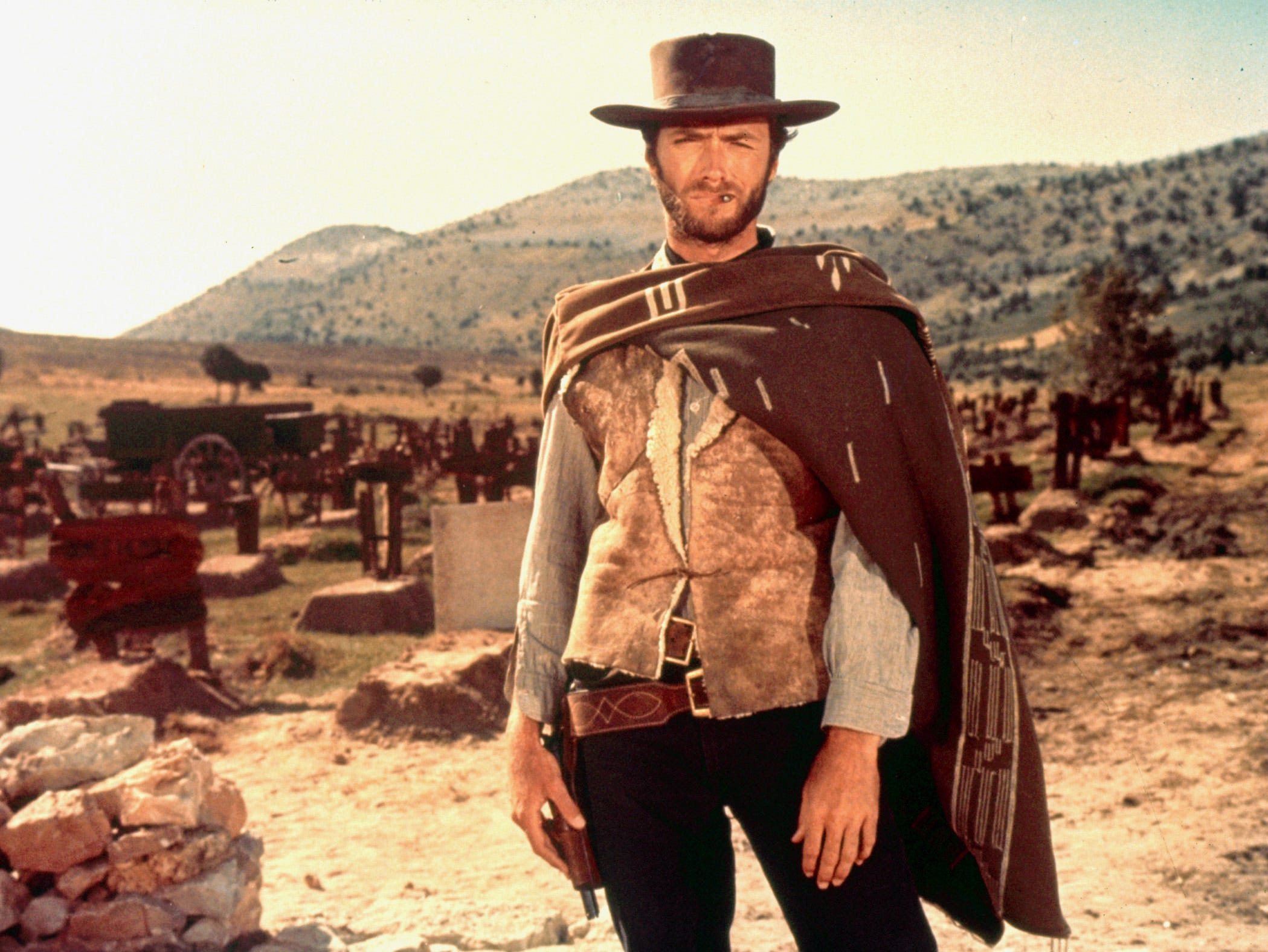 Clint Eastwood in a scene from the motion picture The Good, The Bad and the Ugly.  Credit:  MGM © 1966 Alberto Grimaldi Productions S.A. --- DATE TAKEN: rec'd 05/04  No Byline   See Caption        HO      - handout   ORG XMIT: ZX20360