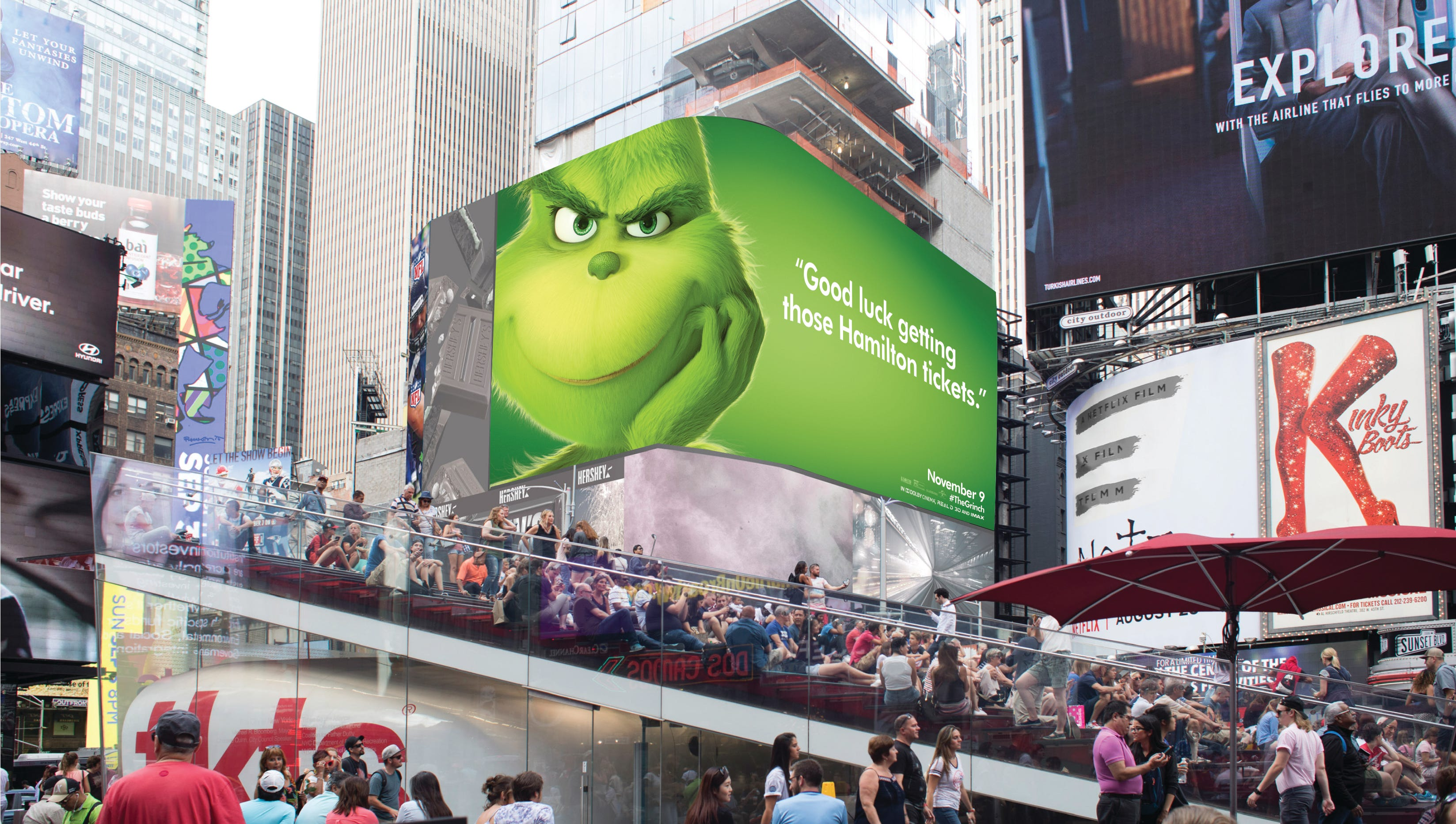 'The Grinch' sneers at American cities from billboards: His most withering cutdowns