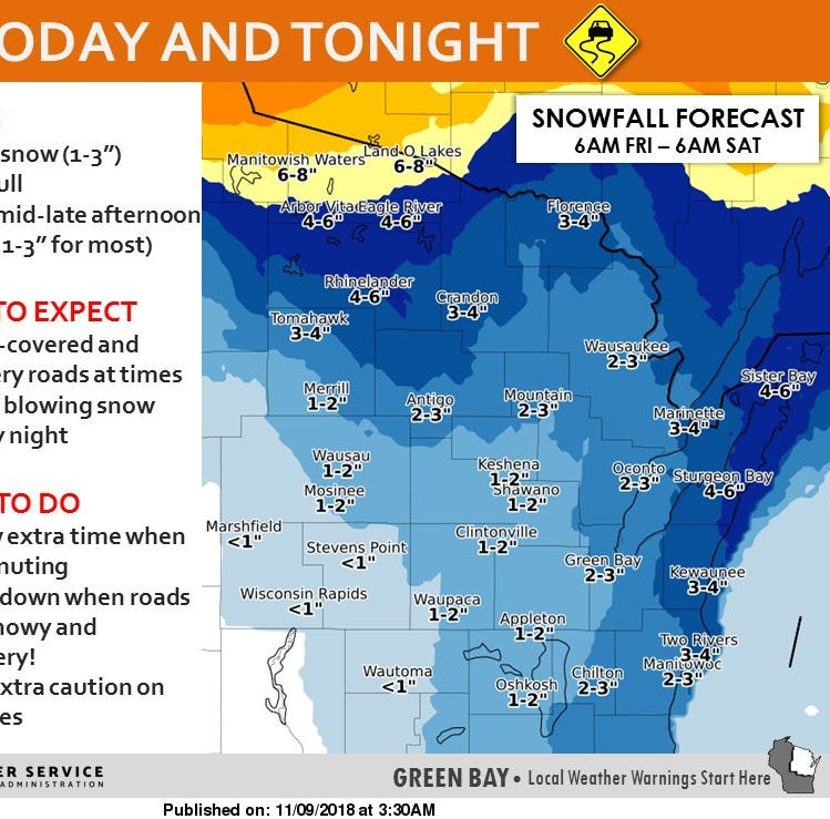 Wisconsin weather: Wet, slushy snow, blowing and drifting making commute tricky