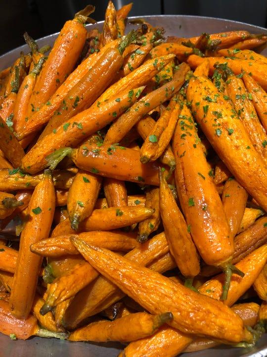 Baby carrots with orange and maple glaze from Joe Leone's Italian Specialties.
