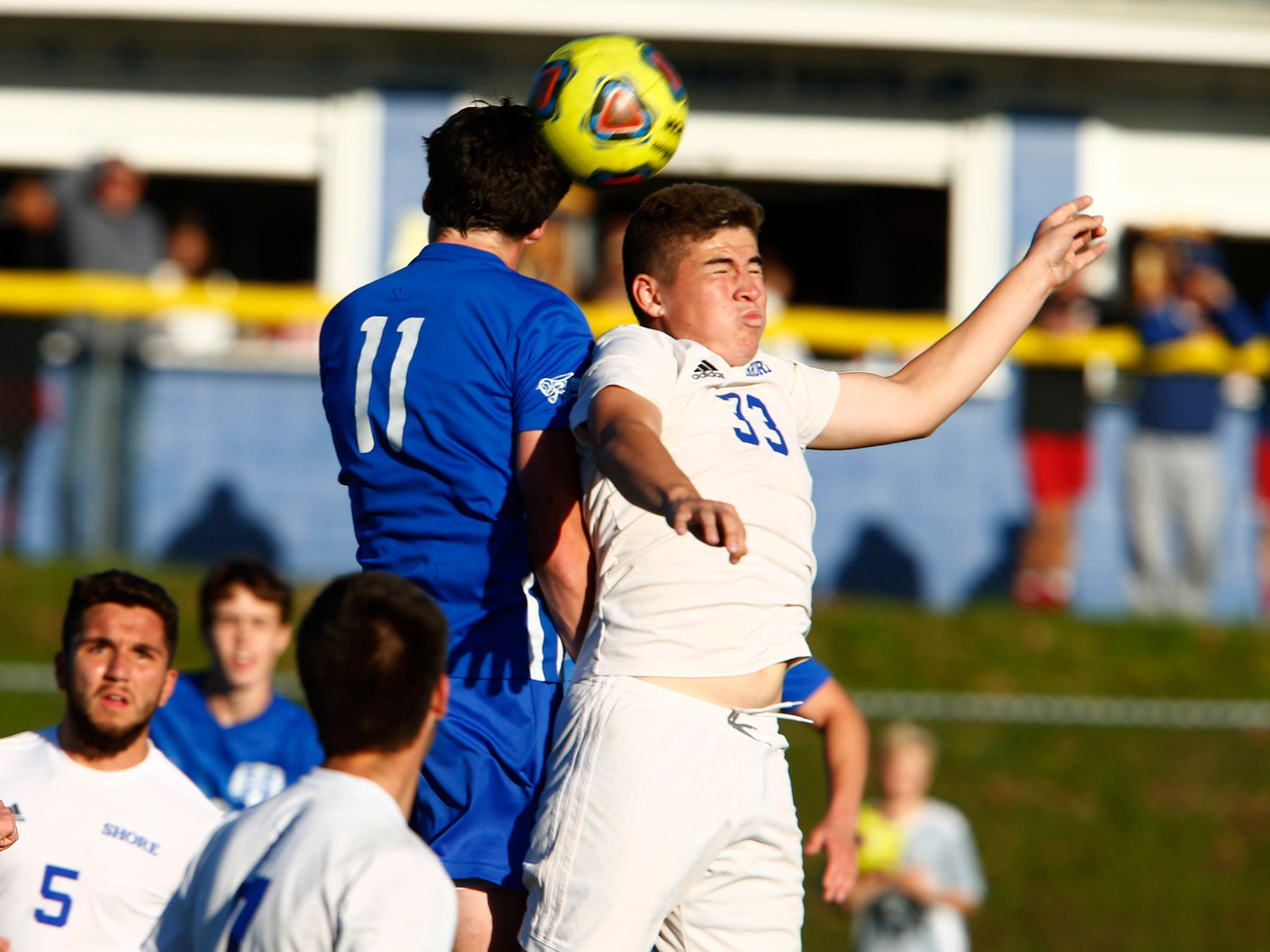 Holmdel faces Shore Regional in the Central Group II boys soccer final in a game played in Holmdel Thursday, November 8, 2018.