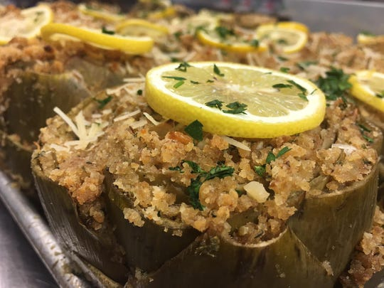 At Zano's Italian Market in Waretown, stuffed artichokes are on the Thanksgiving menu.