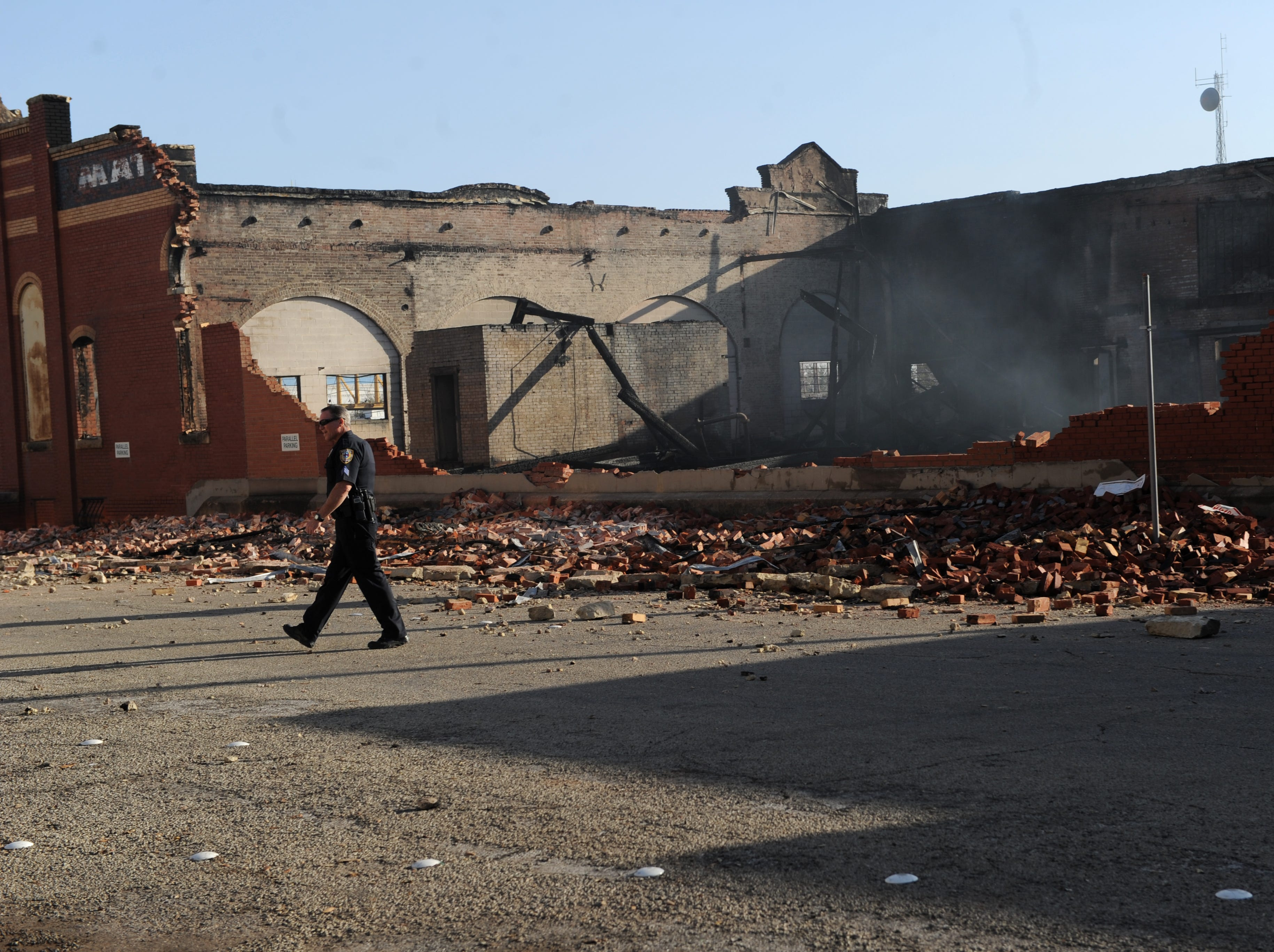 The 105 year old Matera Paper Building burned on Feb. 21, 2012.