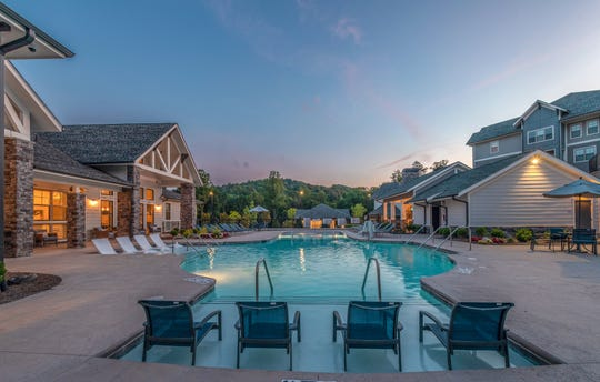 A view of the pool at Asheville Exchange Apartments, a 312-unit complex near the Asheville outlets, which sold last month for $56.6 million.