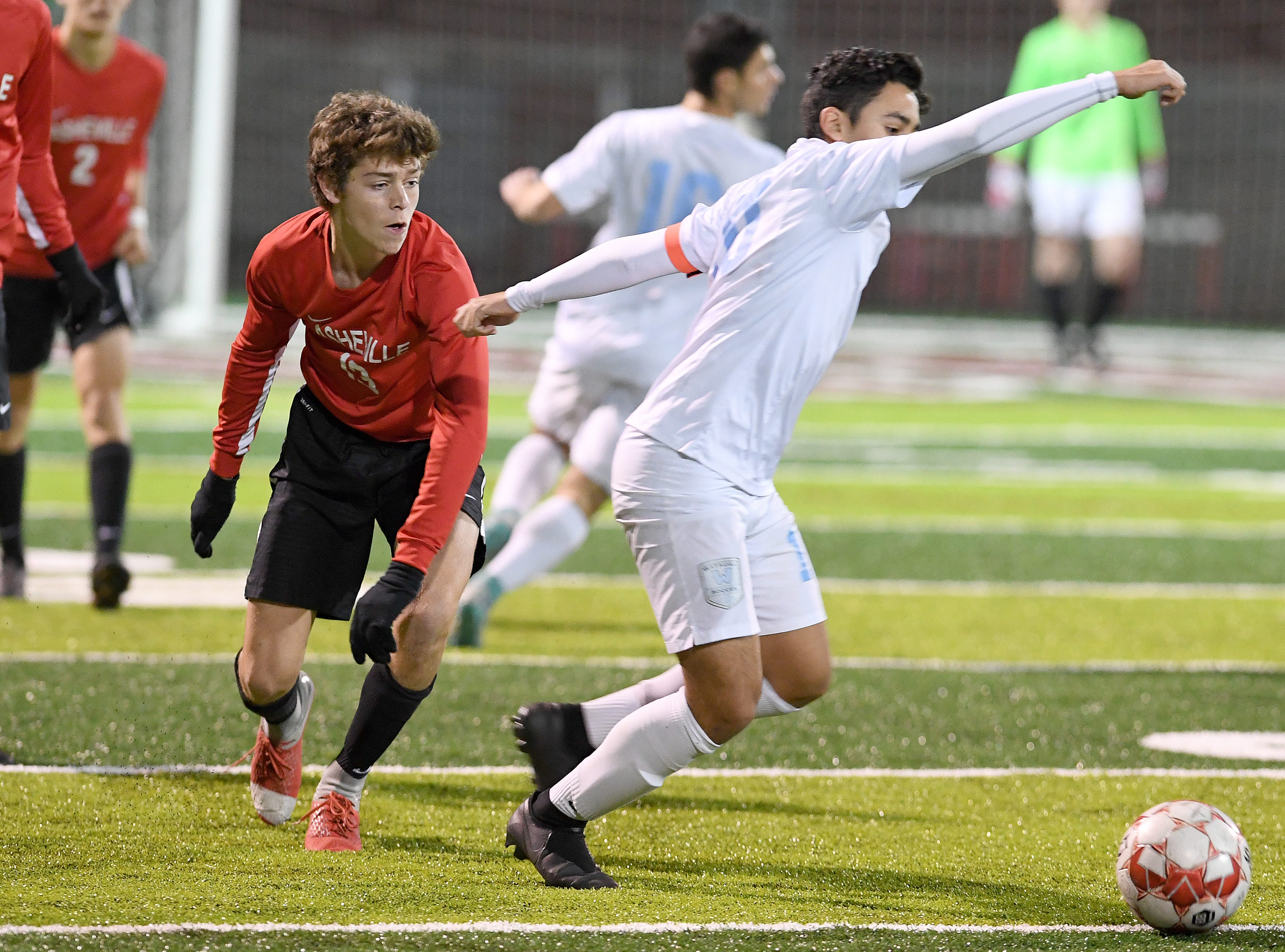 Asheville defeated Watauga 1-0 in their playoff game at Asheville High School on Nov. 8, 2018.