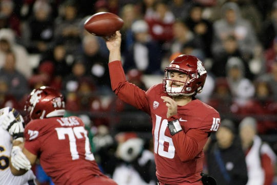 Washington State quarterback Gardner Minshew II is the nation's leading passer with 3,517 yards, 27 TDs and seven interceptions.