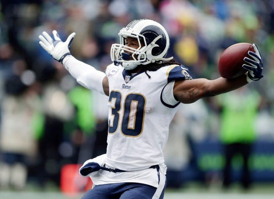 Running back Todd Gurley and the Los Angeles Rams can basically wrap up the NFC West if they beat the Seahawks on Sunday.