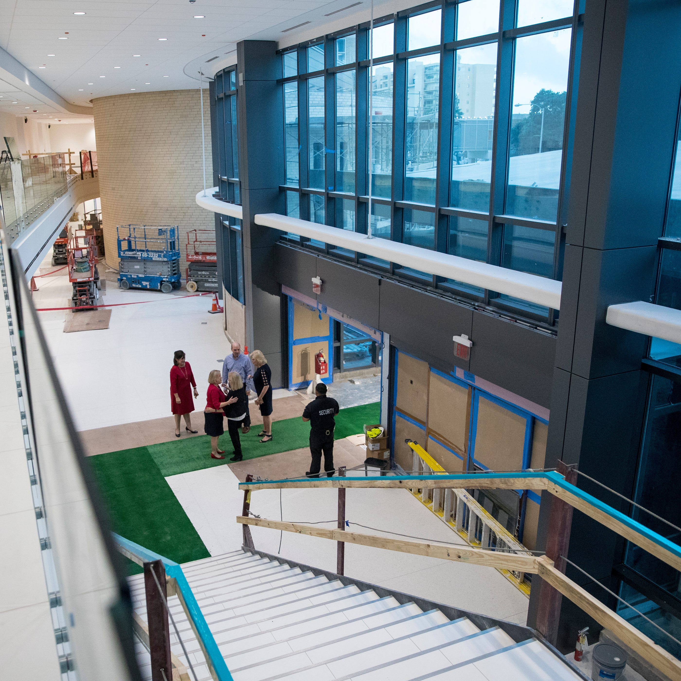Christus Spohn Hospital Shoreline held a tour of their new Patient Care Tower on Thursday, November 8, 2018. The tower includes about 200 new patient beds, a new and larger emergency department, public space, chapel, among other additions. The tower's new lobby can be seen from the second floor.