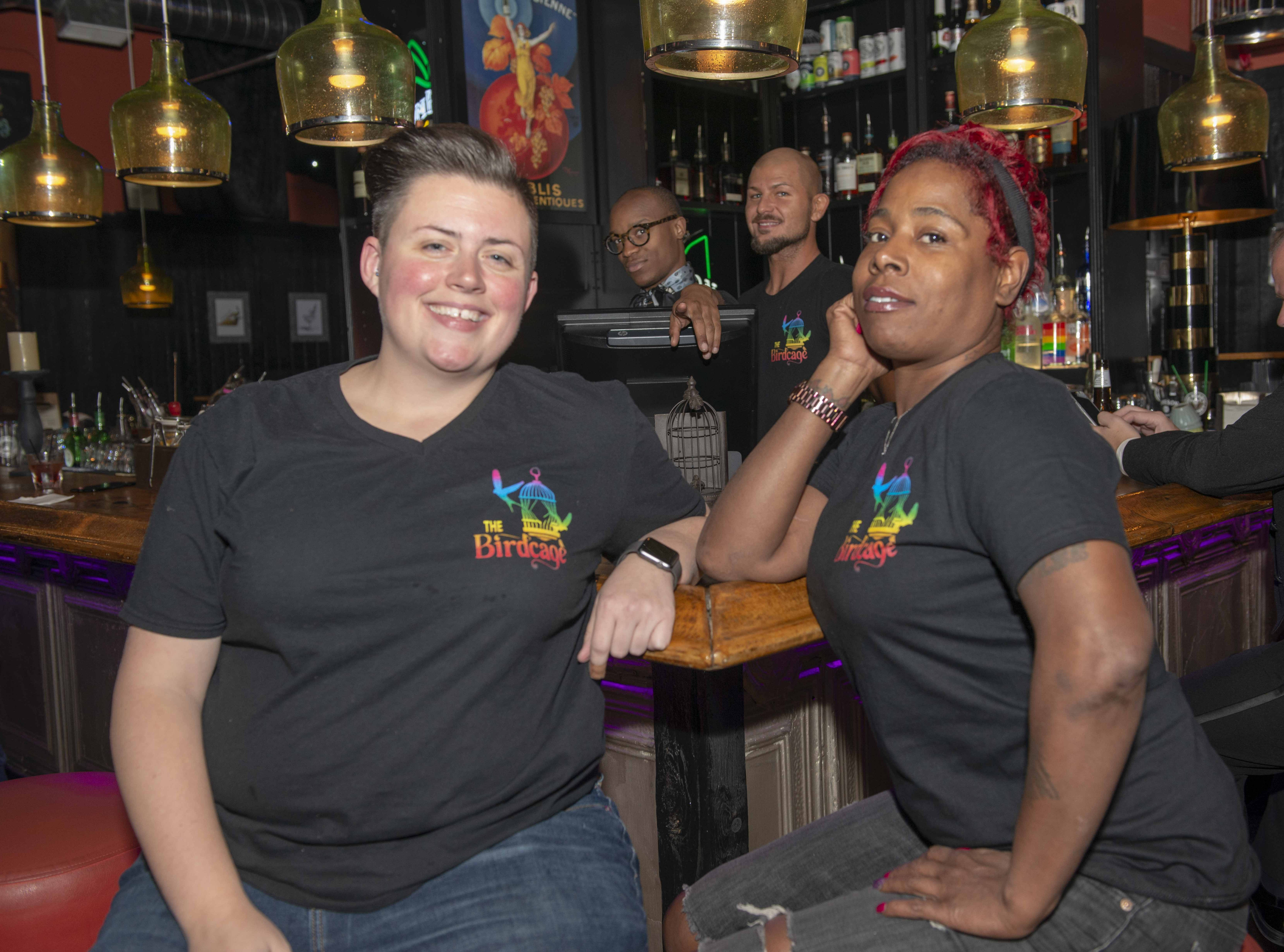 Latoya, who works the door and lives in OTR, and Shelly Buechel, the barback, also from OTR.