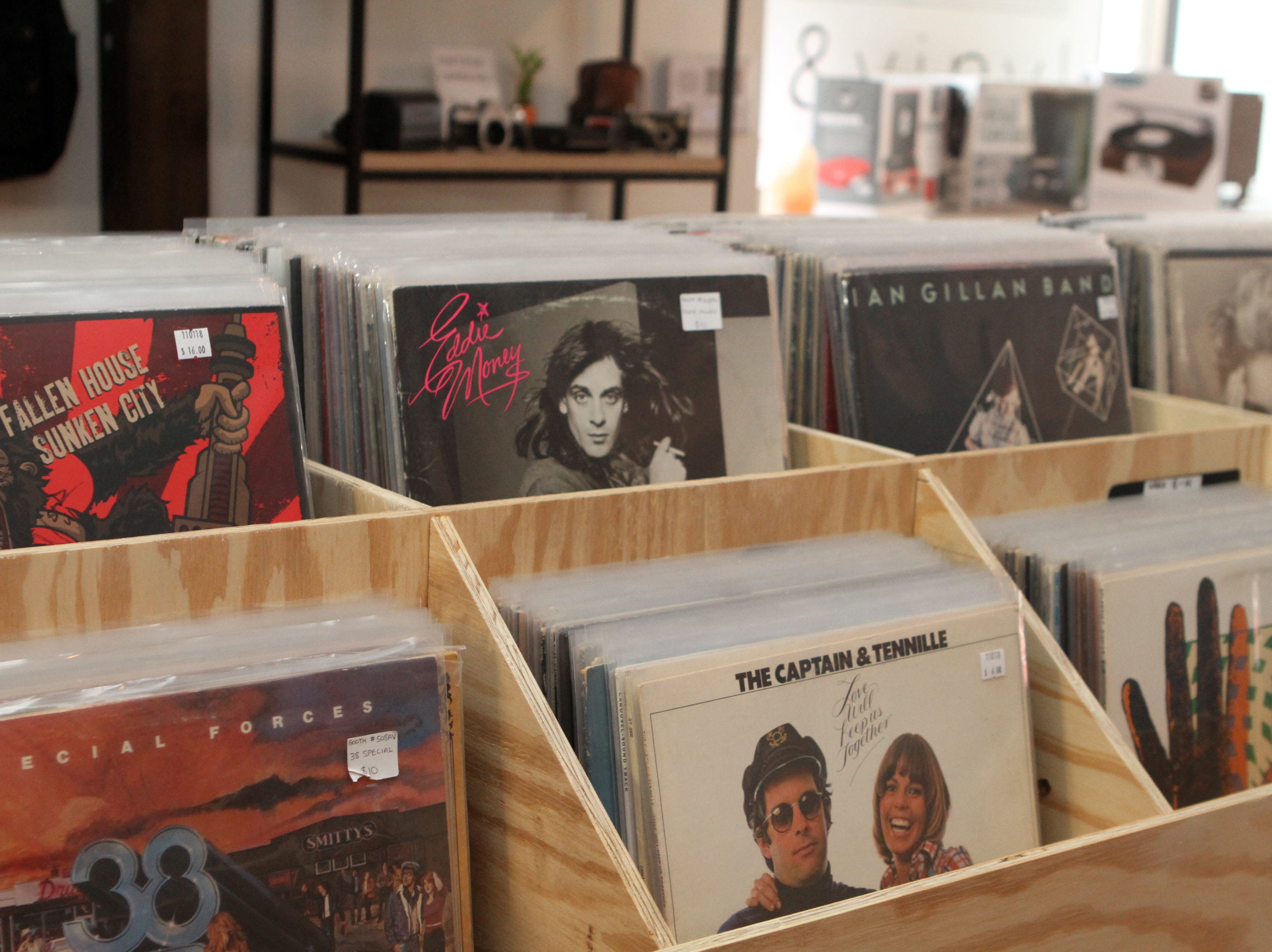 AndVinyl, a new shop selling new and used records, opened Monday, Nov. 5, 2018 on Franklin St. in downtown Clarksville.