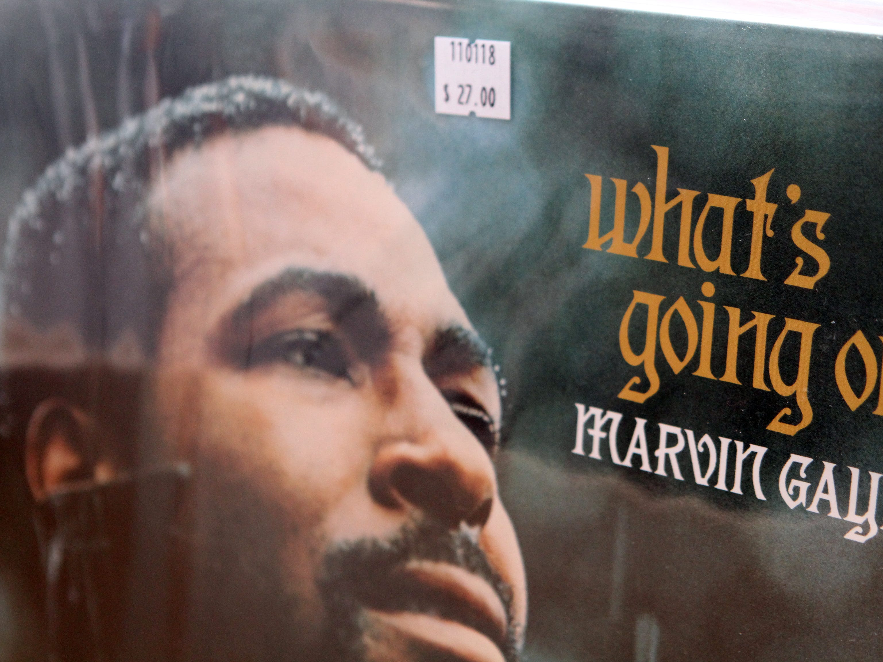 "Marvin Gaye's ""What's Going On,"" on sale at AndVinyl, a new shop selling new and used records, that opened Monday, Nov. 5, 2018 on Franklin St. in downtown Clarksville."